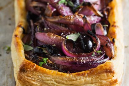McKees Takeaway Red onion and camembert tarte