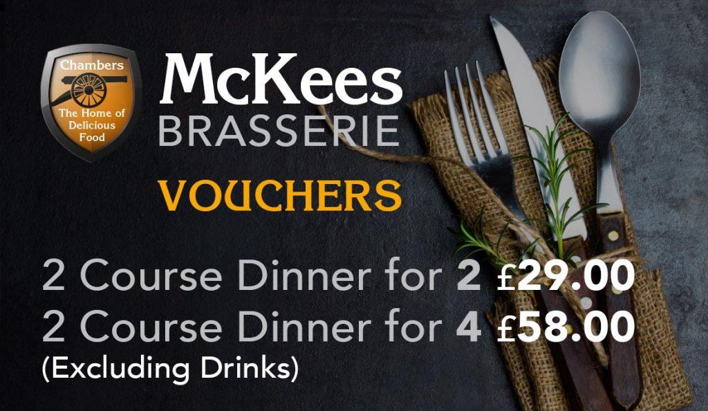 McKees Vouchers Dinner